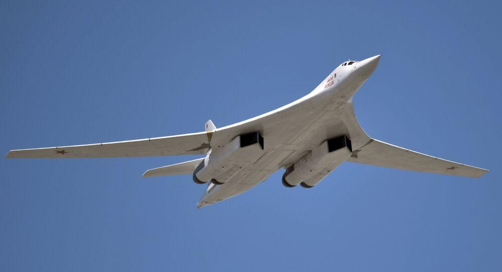 Bombardeiro estratégico Tupolev Tu-160 (foto de arquivo)