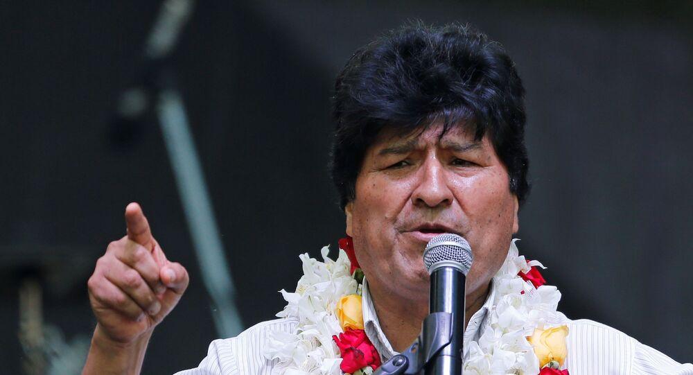 Ex-presidente da Bolívia Evo Morales participa de ato em Buenos Aires