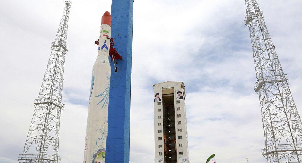 Foto de base de lançamento de satélites, no Centro Espacial Nacional Khomeini, no Irã (foto de arquivo)