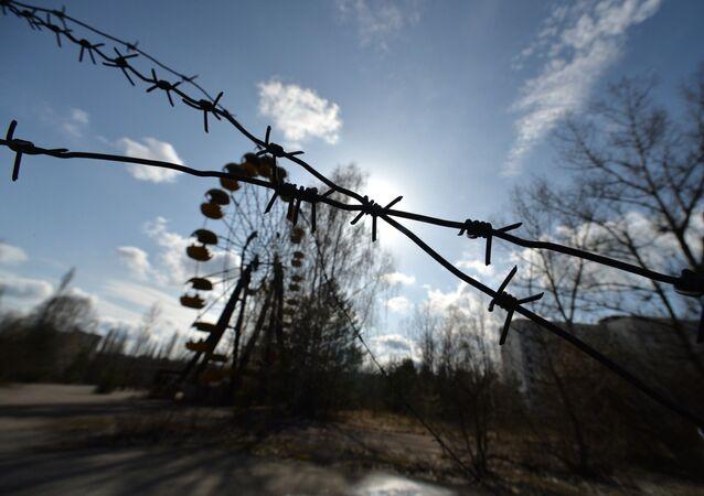 Cidade de Pripyat evacuada após o acidente nuclear de Chernobyl