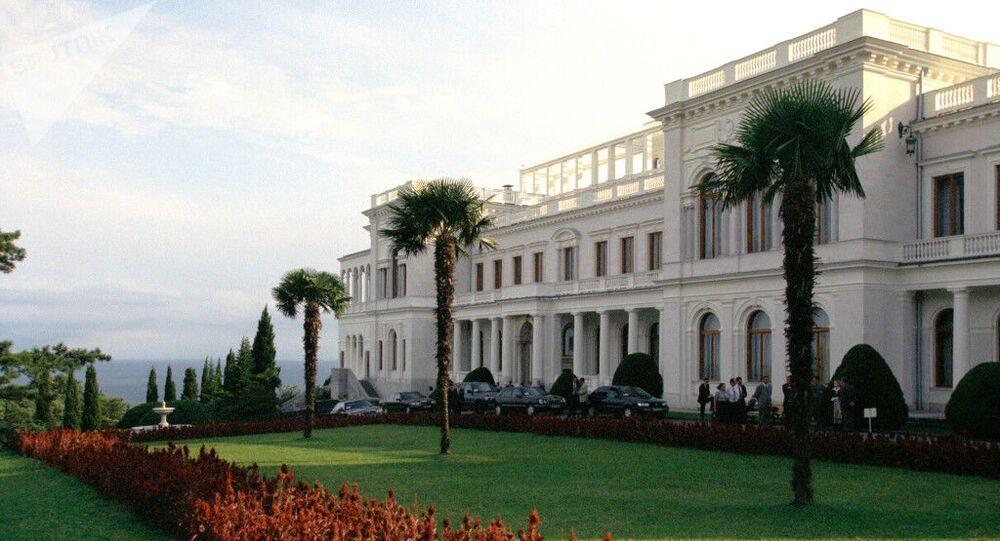 Palácio de Livadia reuniu as forças aliadas naa Conferência de Yalta em 1945