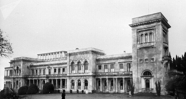 O Palácio de Livadia, no qual foi celebrada a Conferência de Yalta em 1945