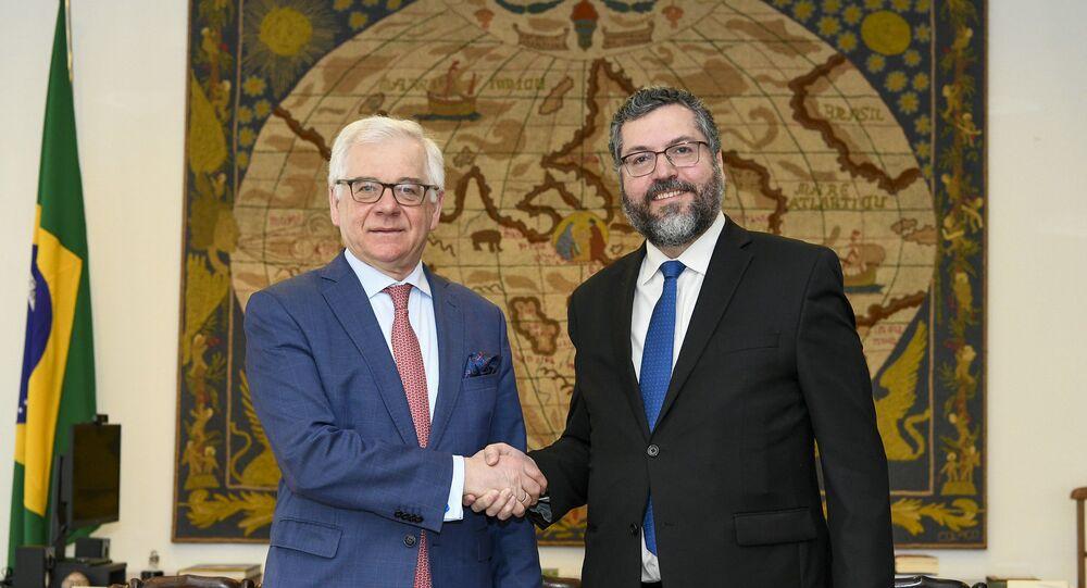 Reunião do Ministro Ernesto Araújo com Jacek Czaputowicz, Ministro dos Negócios Estrangeiros da Polônia.