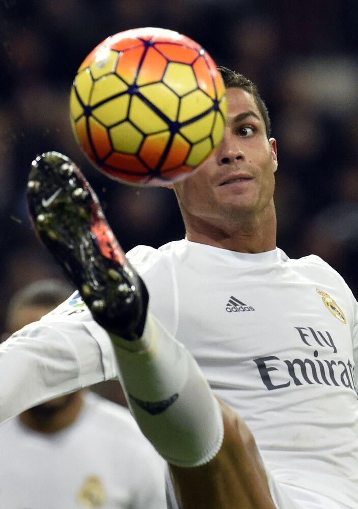 Cristiano Ronaldo durante a partida entre Real Madrid e RC Desportivo La Coruna, em 2016