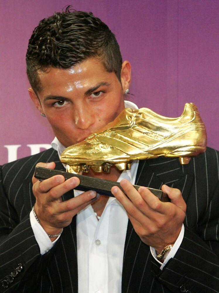 Cristiano Ronaldo na cerimônia do Golden Show em 2008