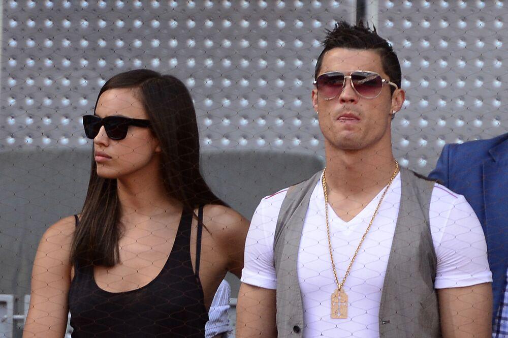 Cristiano Ronaldo com sua ex-namorada russa Irina Shayk