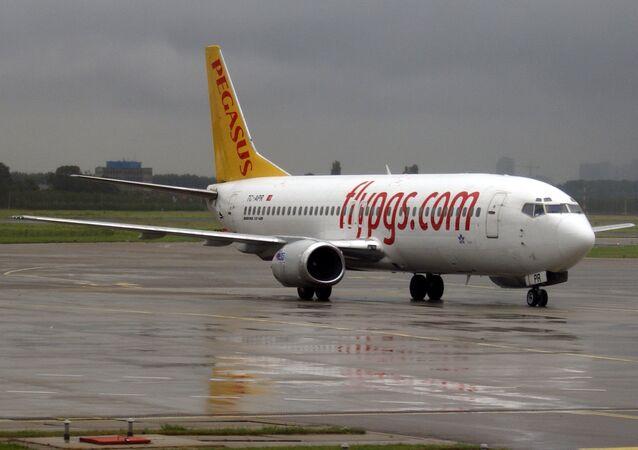 Avião da companhia aérea Pegasus