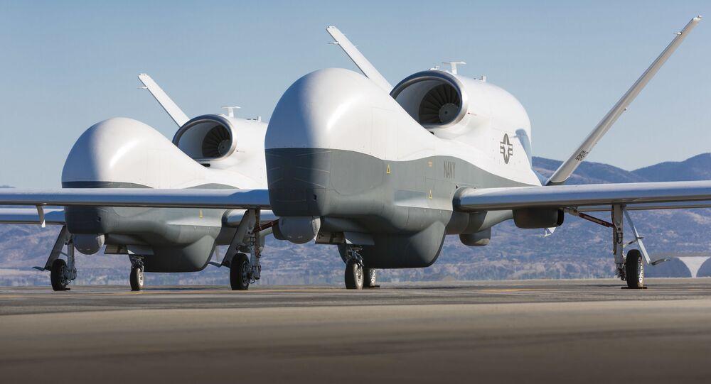 Drone MQ-4C Triton da Northrop Grumman (arquivo)