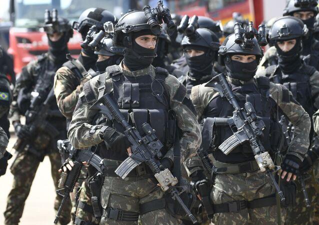 Preparativos de segurança para a posse de Jair Bolsonaro, como presidente da República.