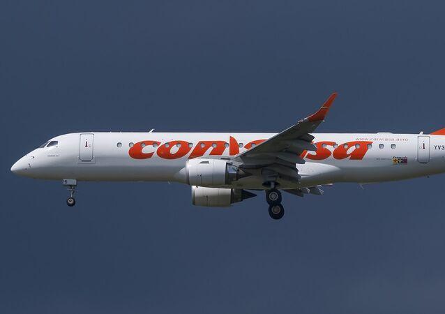 Avião da companhia aérea venezuelana Conviasa (imagen referencial)