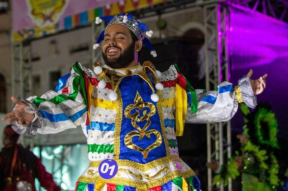Candidatos do Concurso de Rei Momo e Rainha do Carnaval do Recife 2020, no Pátio de São Pedro