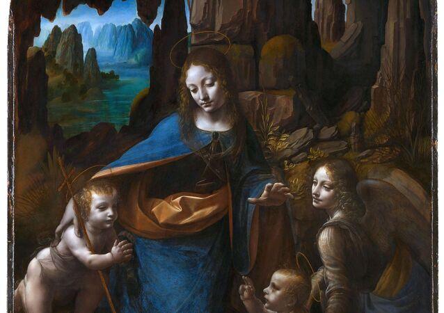 Quadro Virgem das Rochas de Leonardo da Vinci