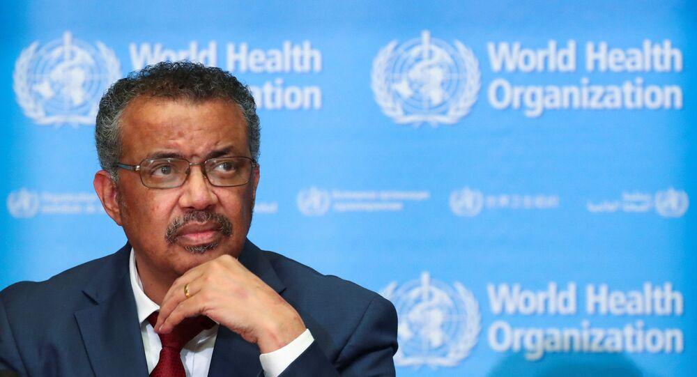 O diretor-geral da Organização Mundial da Saúde (OMS), Tedros Adhanom Ghebreyesus, durante coletiva de imprensa em Genebra, na Suíça.
