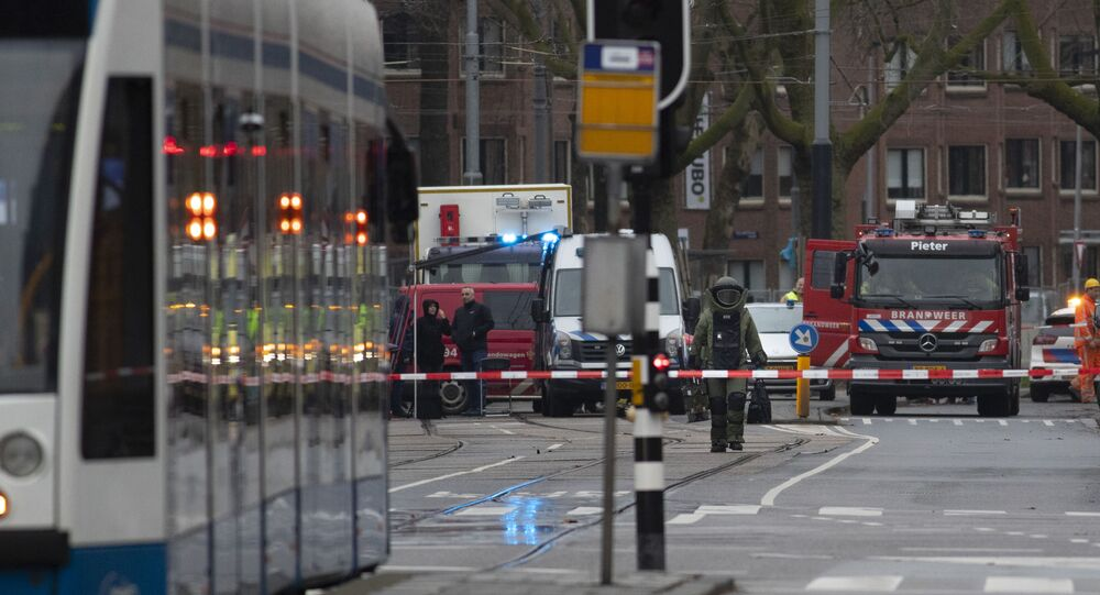 Equipe dos Bombeiros em Amsterdã, Países Baixos