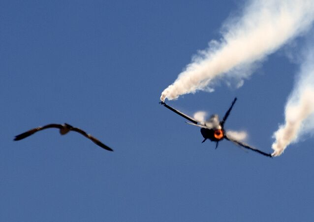 Caça F-16 da Força Aérea paquistanesa durante show aéreo no Paquistão (imagem de arquivo)