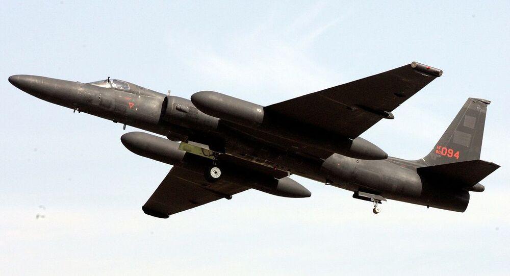 Aeronave de reconhecimento dos EUA U-2 decolando da base aérea de Osan, Coreia do Sul (foto de arquivo)