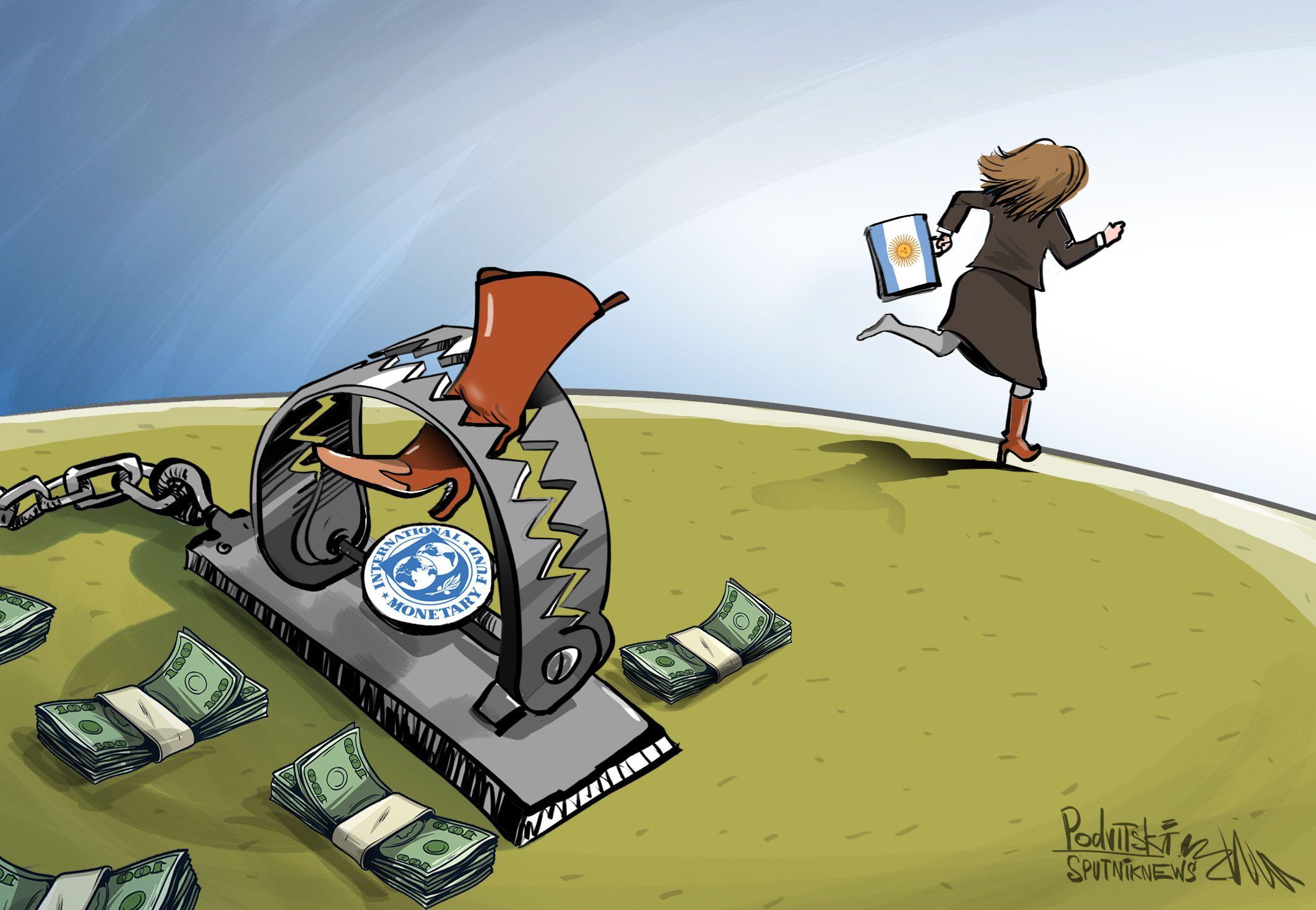 Pagando dívidas à argentina