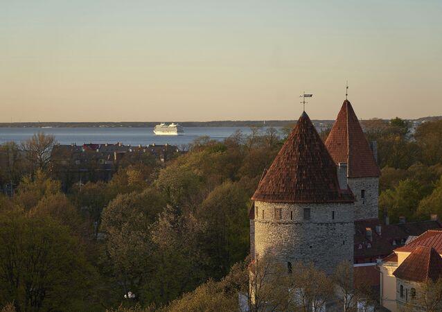 Imagem do mar Báltico, visto da capital estoniana, Tallinn (foto de arquivo)