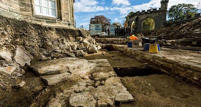 Fundamentos da capela britânica, desaparecida há 370 anos