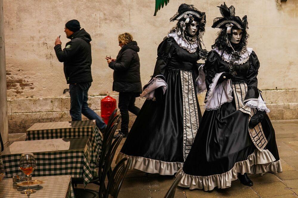 Participantes do Carnaval de Veneza 2020