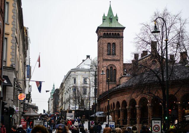Uma rua de Oslo, Noruega