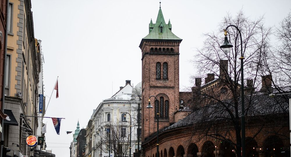 Uma rua de Oslo, capital da Noruega