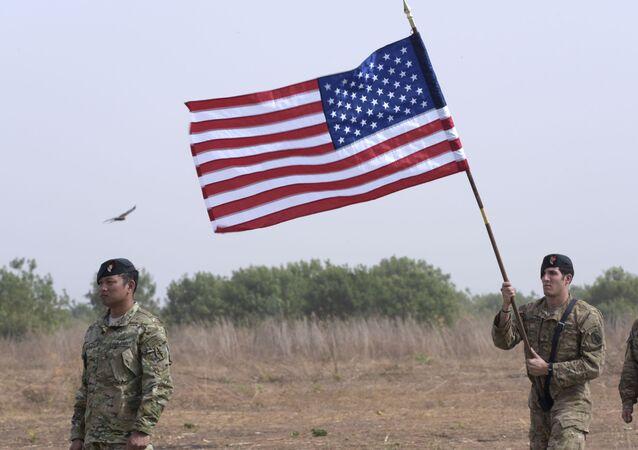 Soldados americanos durante inauguração de base militar no Senegal (foto de arquivo)