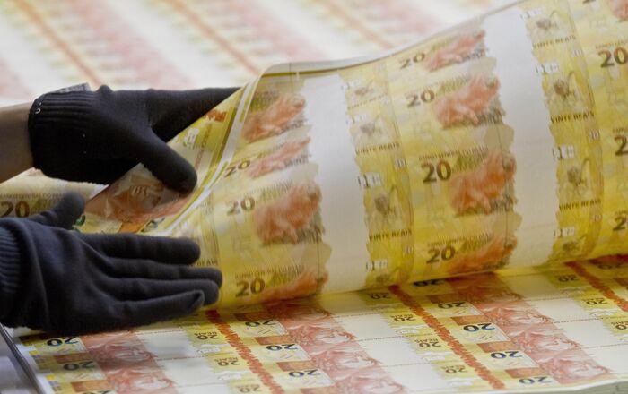 Fábricas de matrizes e cédulas da Casa da Moeda do Brasil (CMB), em Santa Cruz na zona oeste do Rio de Janeiro. Processo de fabricação e itens de segurança das cédulas da nova família, em especial as notas de R$ 10 e R$ 20.