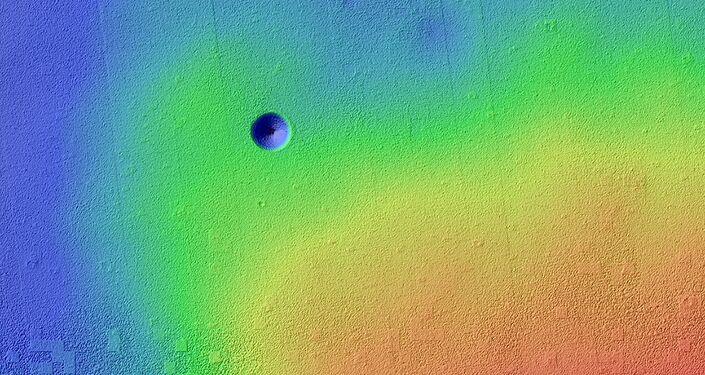 Vulcão Pavonis Mons em Marte