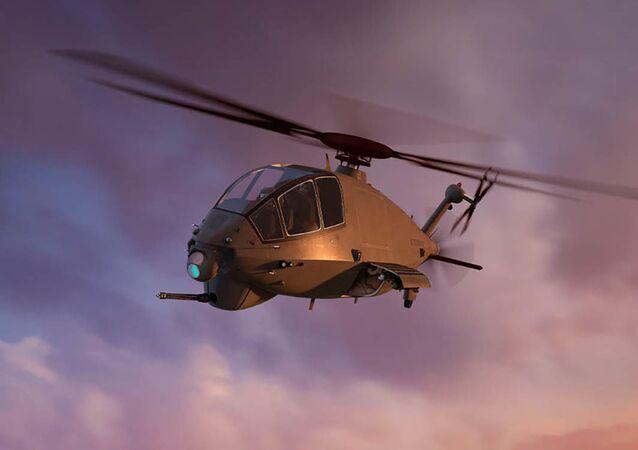 Conceito artístico do futuro helicóptero de reconhecimento e ataque dos EUA