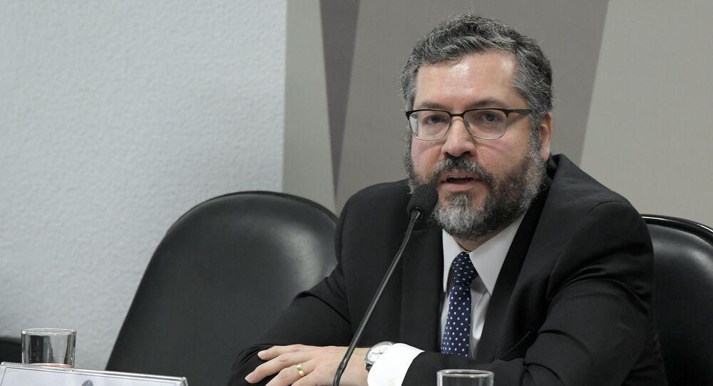 Comissão de Relações Exteriores e Defesa Nacional (CRE) realiza audiência pública como ministro de Estado das Relações Exteriores, Ernesto Araújo.