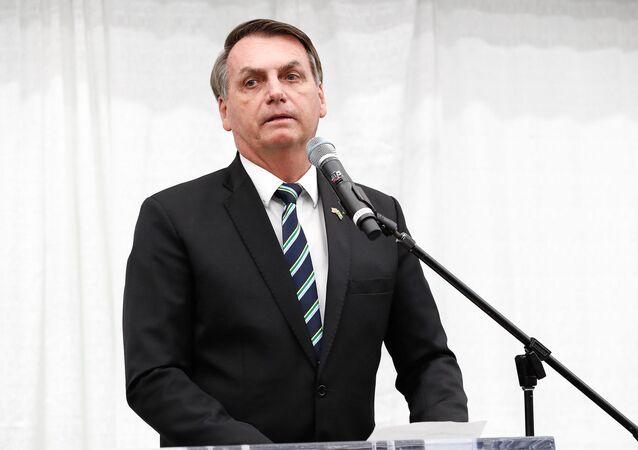 Jair Bolsonaro participa de evento em Miami, nos Estados Unidos.