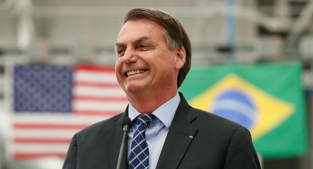 O presidente Jair Bolsonaro participa de evento na Flórida, nos Estados Unidos.