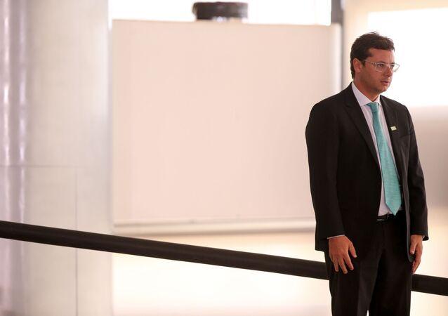 Chefe da Secom, Fabio Wajngarten, no Palácio do Planalto, em Brasília