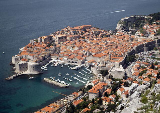 Centro histórico de Dubrovnik na Croácia