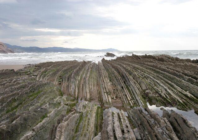 Arredores de San Sebastián, popular cidade balneária no golfo de Biscaia, País Basco, Espanha