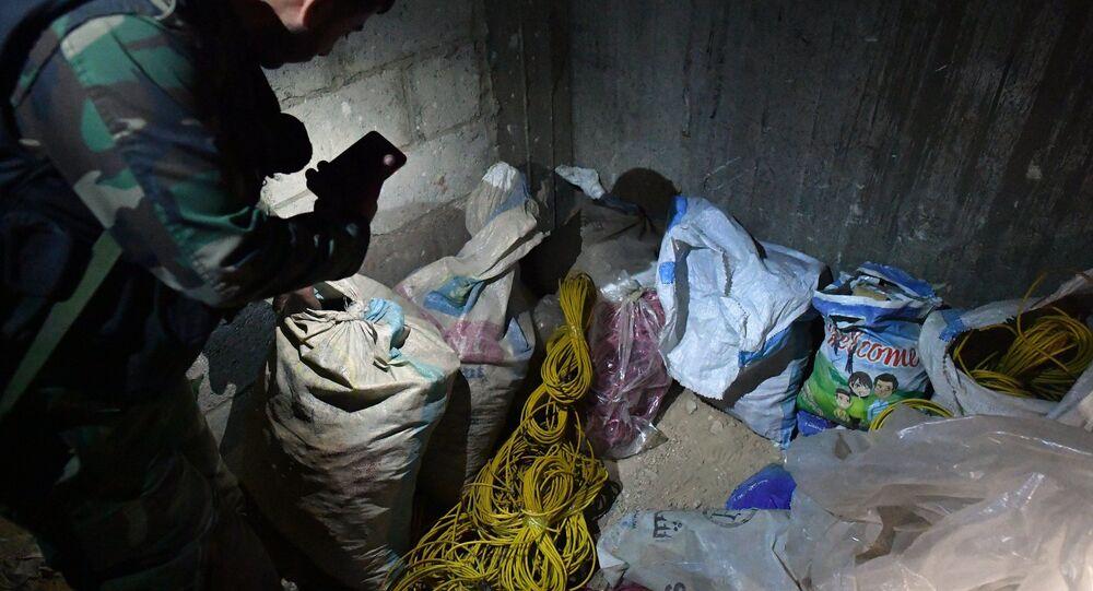 Laboratório químico de militantes na cidade síria de Douma (imagem referencial)
