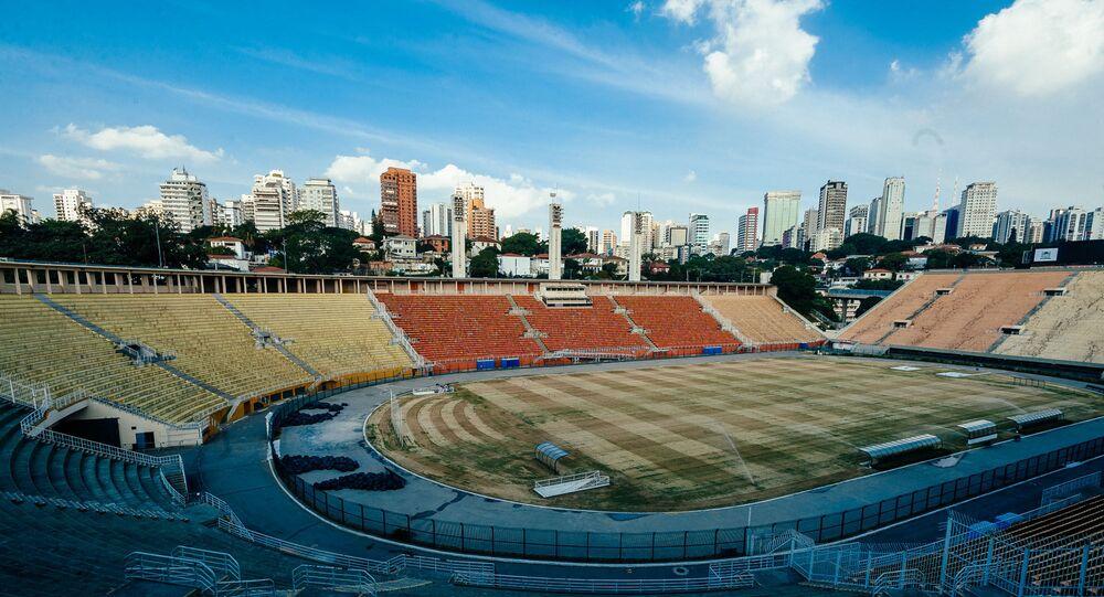 Estádio municipal Paulo Machado de Carvalho, o Pacaembu, na zona oeste da capital paulista.