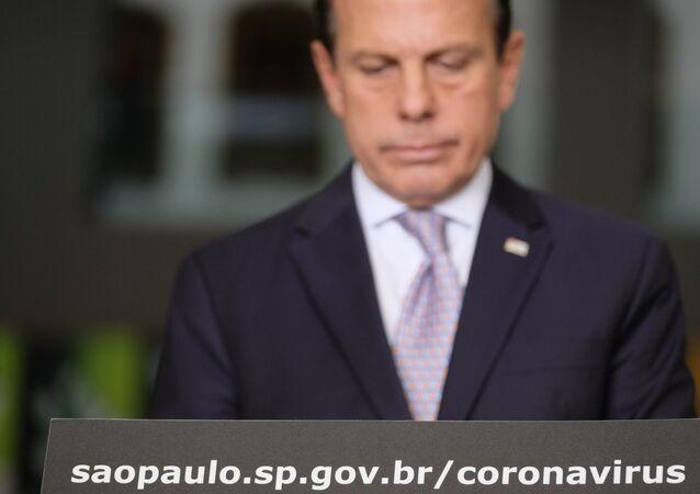 Coletiva do governador de São Paulo João Doria, sobre novas medidas de combate ao coronavírus.