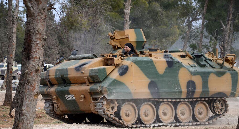 Blindado turco ACV-15 na Síria (imagem referencial)