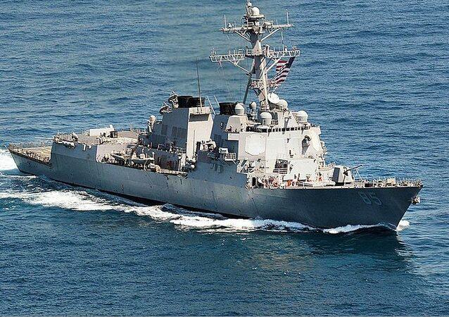 Navio de guerra USS McCampbell da Marinha dos EUA (foto de arquivo)