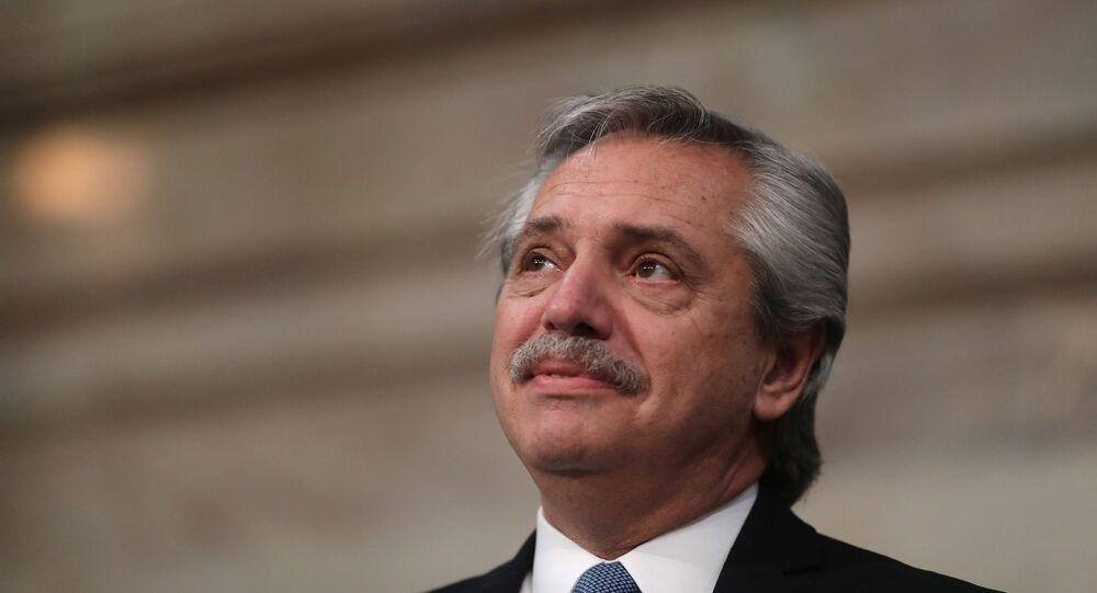 Presidente da Argentina, Alberto Fernández (foto de arquivo)