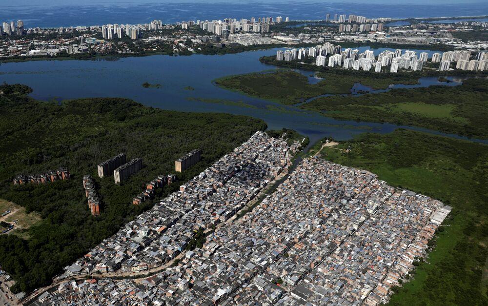 Imagem da comunidade de Rio das Pedras, no Rio de Janeiro, 26 de março de 2020