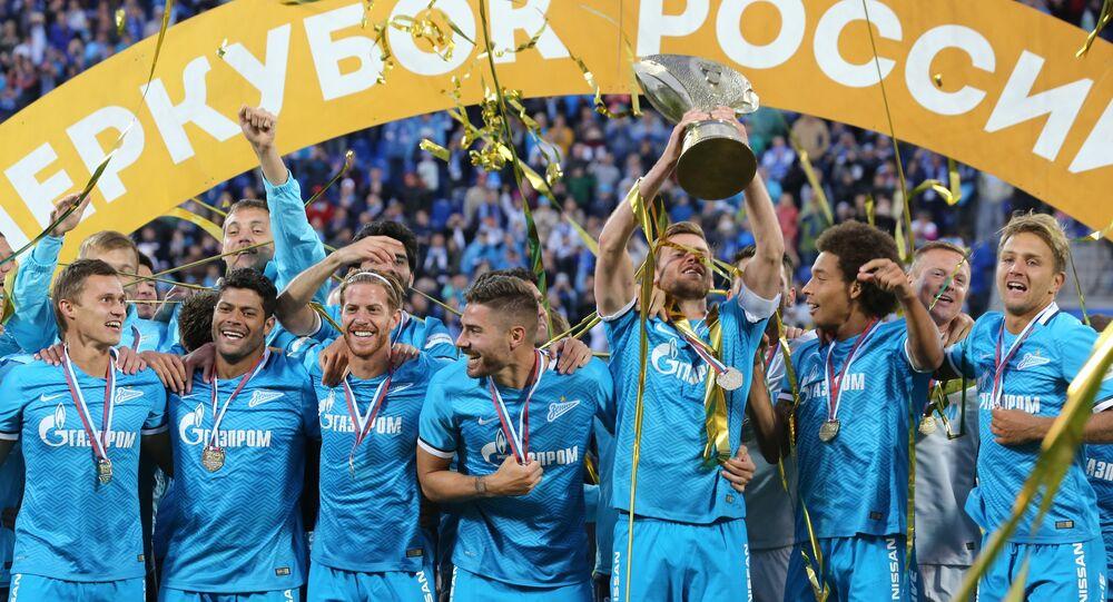 O Zenit São Petersburgo conquistou a Supertaça da Rússia 2015.