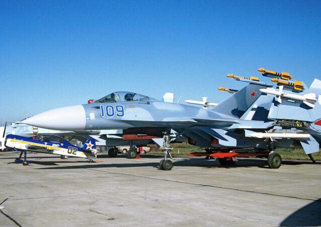 The Su-33 Flanker-D, a carrier-based warplane