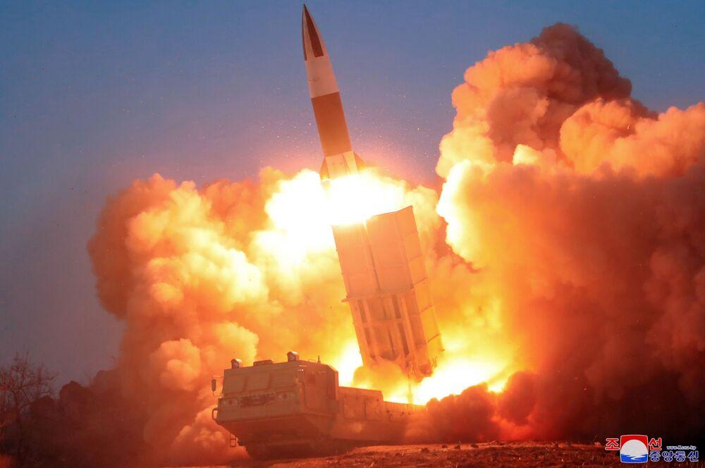 Disparo de foguete na Coreia do Norte