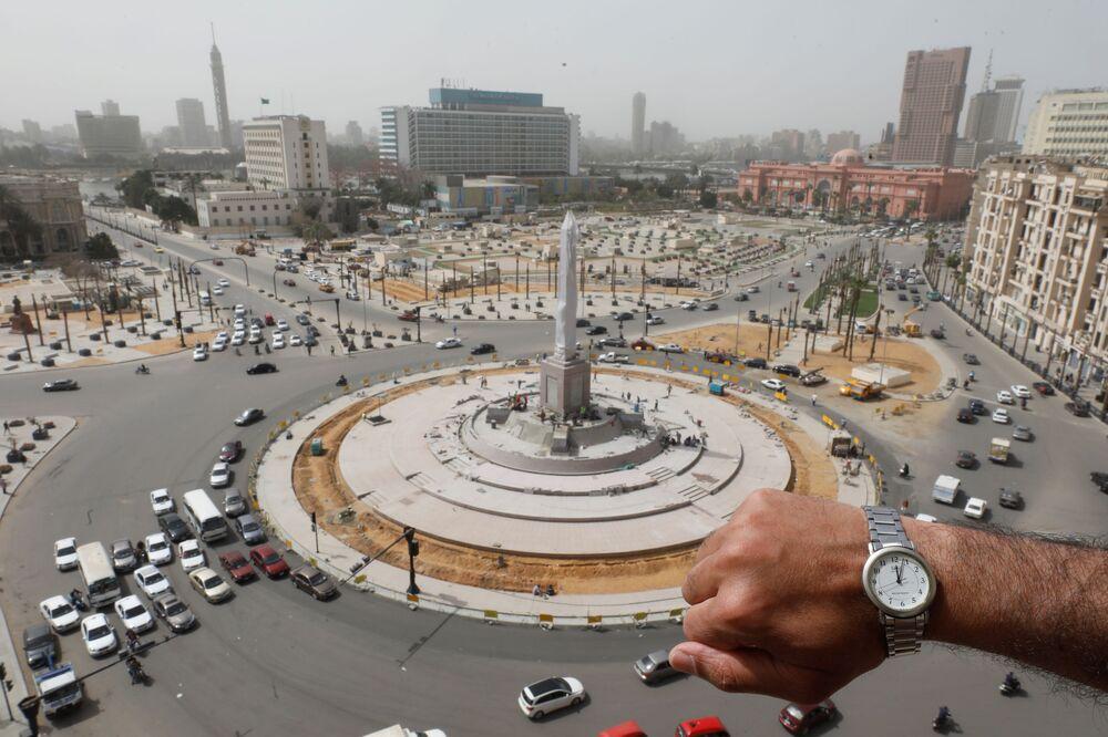Fotografia de relógio no Cairo, Egito
