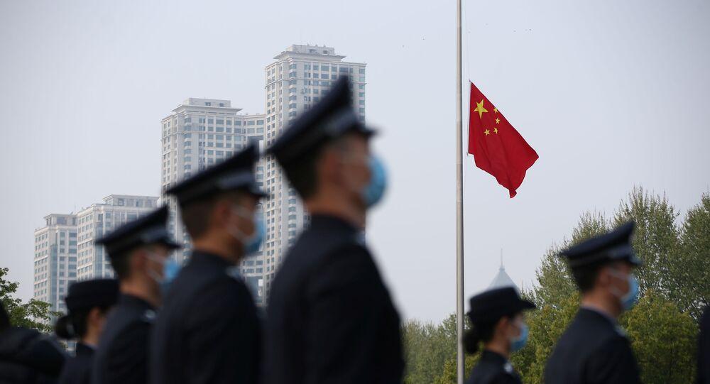 Hasteamento de bandeira na China