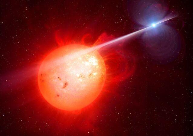 Estrelas binárias (imagem referencial)