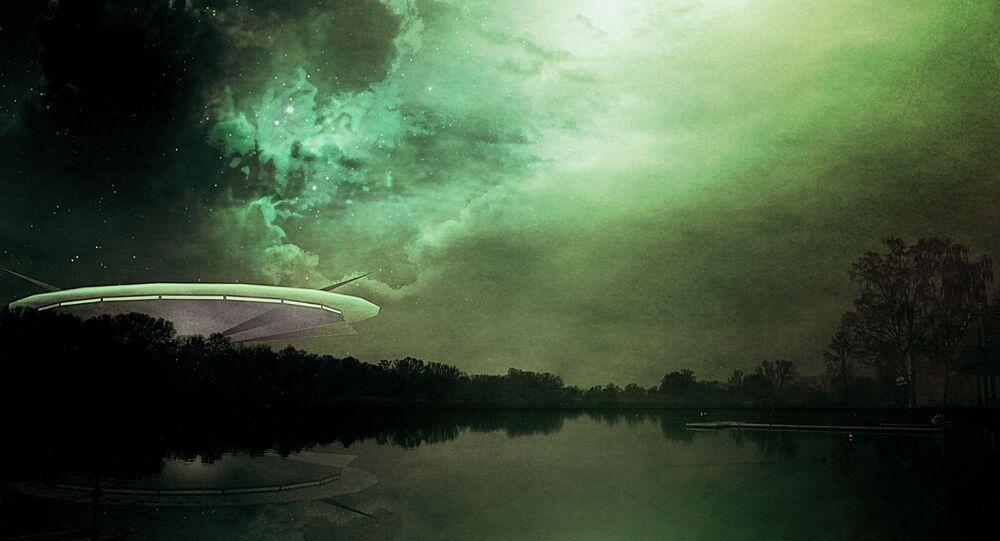 Concepção de artista de um OVNI
